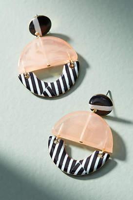 Anthropologie Solange Striped Drop Earrings