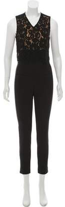 Veronica Beard Wright Lace-Paneled Jumpsuit