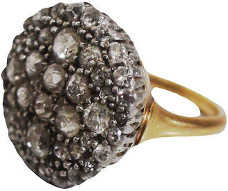One Kings Lane Vintage Diamond Cluster Cocktail Ring - Laurie Frank