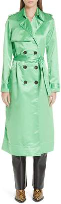 Kwaidan Editions Belted Satin Trench Coat