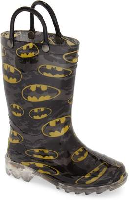 Western Chief Batman Signal Light-Up Waterproof Rain Boot
