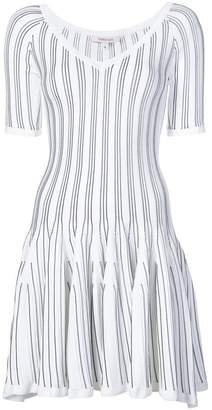 Cushnie et Ochs striped flared dress