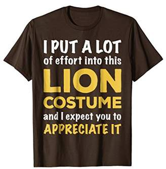 Lazy Halloween Costume T Shirt for Quick Easy Lion Theme