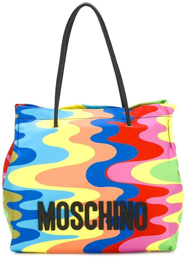 MoschinoMoschino wavy print tote