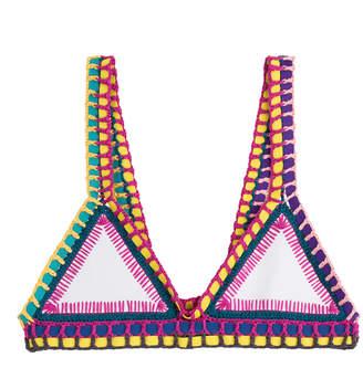 Kiini Yaz Crochet Trimmed Bikini Top