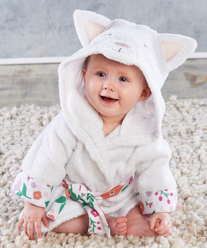 White Cat Hooded Robe