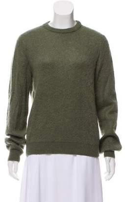 Saint Laurent Mohair-Blend Crew Neck Sweater