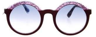 Jimmy Choo Round Gradient Sunglasses