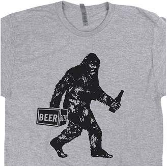 4a2e577f8 Shirtmandude T-Shirts XXXL - Bigfoot T Shirt Drinking Beer Funny Sasquatch  Yeti Dive Bar