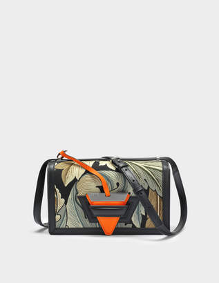 Loewe Barcelona Camo Bag in Green Multitone Canvas and Calfskin