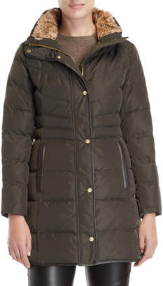 Cole Haan Faux Fur Collar Down Coat