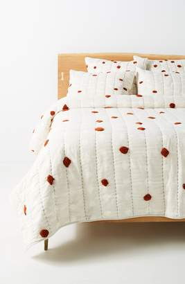 Anthropologie Mesa Tufted Quilt