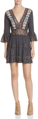 Free People Antiquity Mini Dress $168 thestylecure.com