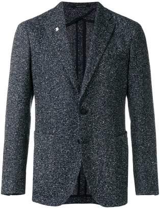 Tagliatore knit detail blazer