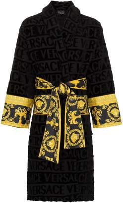 Versace (ヴェルサーチ) - Versace Barocco ロゴ コットン バスローブ