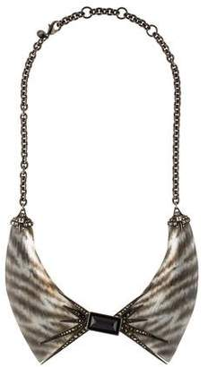 Alexis Bittar Santa Fe Deco Zebra Collar Necklace