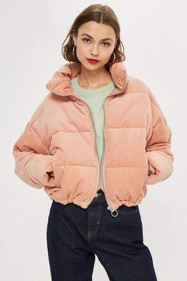 Topshop Tall Corduroy Puffer Jacket