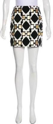 Diane von Furstenberg Cassiana Velvet Mini Skirt