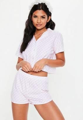 Missguided White Bridal Ring Print Pyjama Set