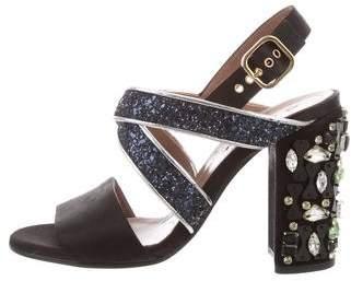 Marni Embellished Crossover Sandals