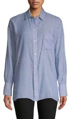 Vince Classic Striped Button-Down Shirt