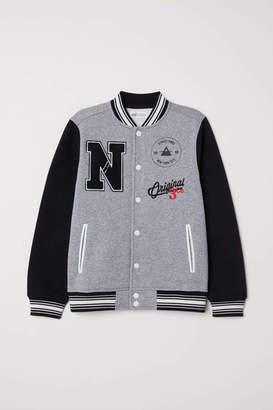 H&M Baseball Jacket - Gray melange/black - Kids