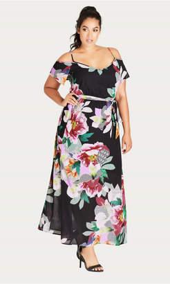 City Chic Romantic Pop Maxi Dress