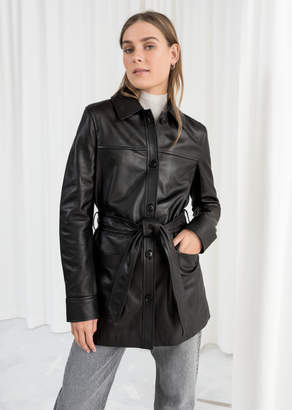 And other stories Belted Leather Trench