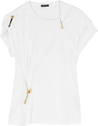 e58a3818 Versace White Embellished Cotton T-shirt