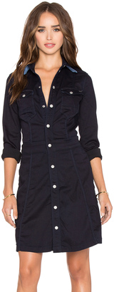 G-Star Tacoma Long Sleeve Slim Flare Dress $250 thestylecure.com