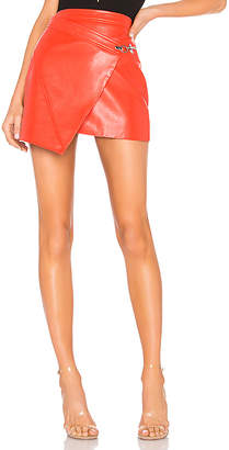 Blank NYC BLANKNYC Faux Leather Wrap Skirt