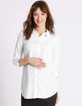 Marks and Spencer Maternity Pure Cotton Shirt