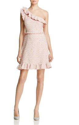 Rebecca Taylor Tweed One-Shoulder Dress $475 thestylecure.com