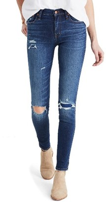Women's Madewell High Rise Skinny Jeans: Ripped & Patched Edition $135 thestylecure.com