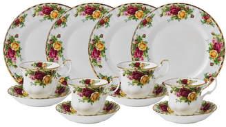 Royal Albert Old Country Roses 12-Piece Tea Entertaining Set