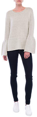 French Connection Bell Sleeve Jumper, Light Oatmeal Mel