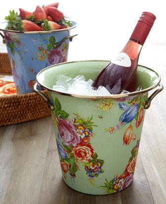 """Mackenzie Childs MacKenzie-Childs """"Flower Market"""" Wine Cooler"""