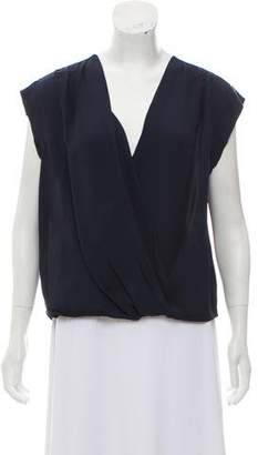 Halston Draped Silk Top