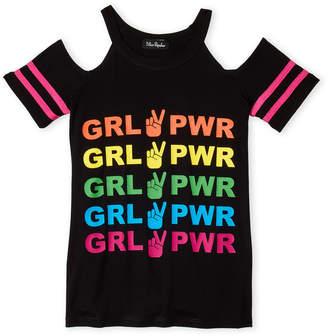 Miss Popular (Girls 7-16) Girl Power Cold Shoulder Top