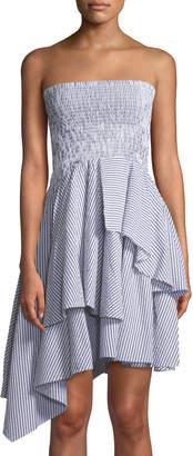 KENDALL + KYLIE Seersucker Gingham Convertible Skirt/Dress