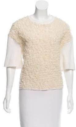 Giambattista Valli Wool Short Sleeve Top