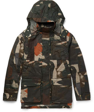The Workers Club - Camouflage-Print Waxed Cotton-Canvas Jacket