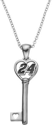 "Insignia Collection NASCAR Jeff Gordon ""24"" Stainless Steel Key Pendant Necklace"