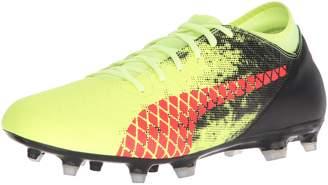 Puma Men's Future 18.4 FG/AG Soccer Shoe, deep Lagoon White-Green Gecko