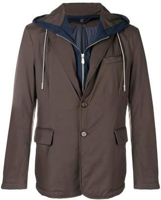 Eleventy layered single-breasted jacket