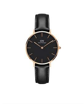 Daniel Wellington Sheffield Black Dial Petite Leather