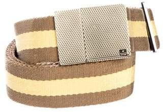 Gucci Woven Striped Belt