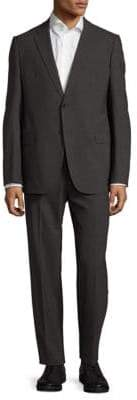 Armani Collezioni Textured Notch-Lapel Suit
