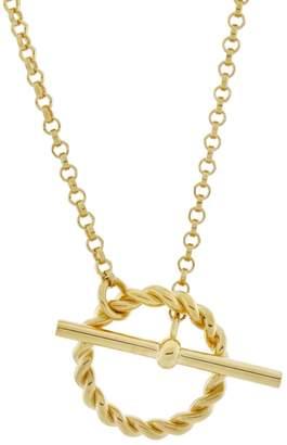 Monarc Jewellery - Corda T-Bar Necklace Gold Vermeil
