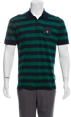 Givenchy Woven Striped Polo Shirt